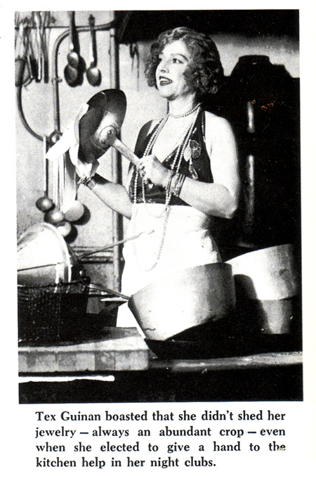 Tex Guinan Doing the Dishes