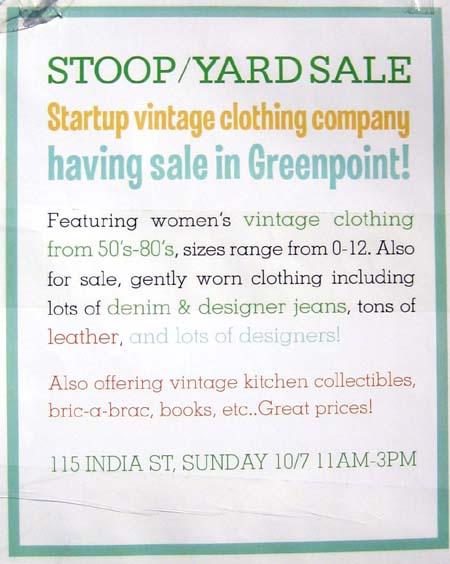 115 India Street Stoop Sale