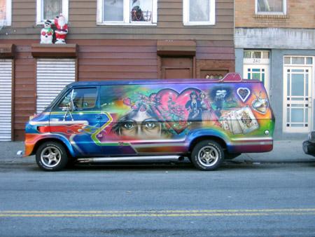 Van on Grand Street