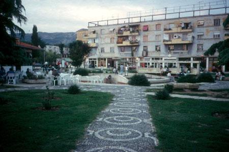 Albanian apartment building taken by Jim Rees