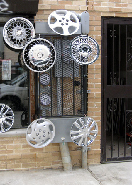 Hubcaps and electrical meter