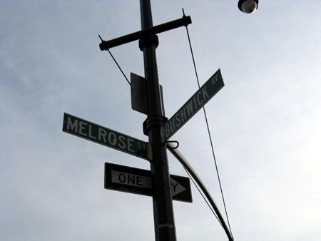 Melrose Street and Bushwick Avenue