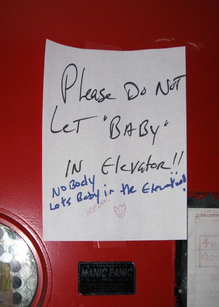 Nobody Lets Baby Into the Elevator