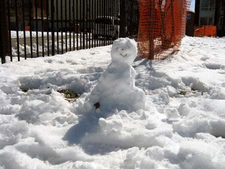 McCarren Park Snowman