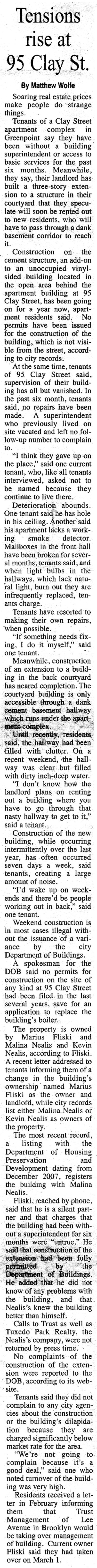 3/7/2008 Greenpoint Courier