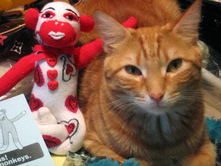 Bodhi and his Sock Monkey