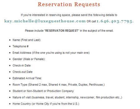 request letter for hotel reservation