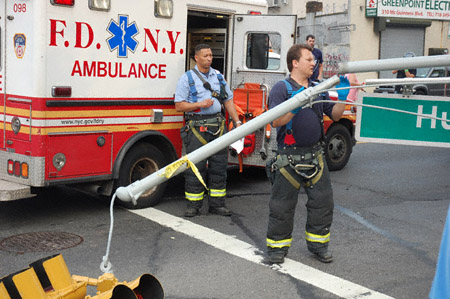 FDNY clearing the debrisNYS