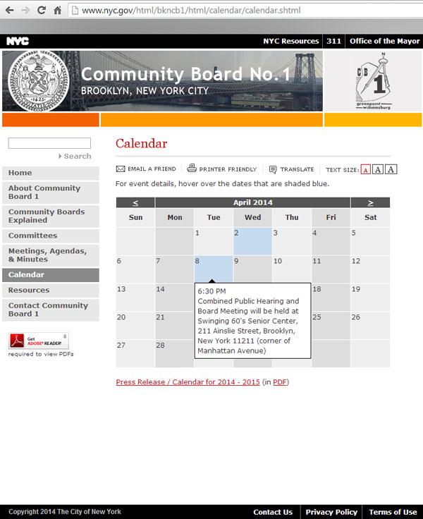 CB Calendar