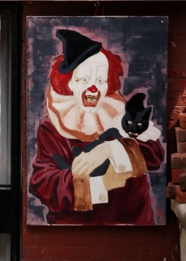 Vampire clown with black cat cropped nys